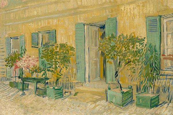 Reprodukcja Exterior of a Restaurant - Gogh 70x45