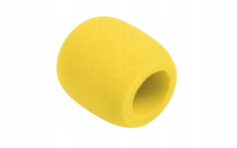 Gąbka mikrofonowa uniwersalna wiatrochron żółta