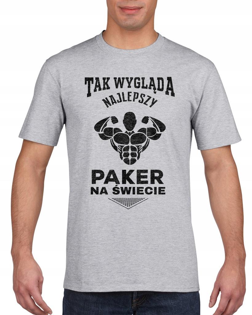 Koszulka męska NAJLEPSZY PAKER NA SWIECIE s XXL