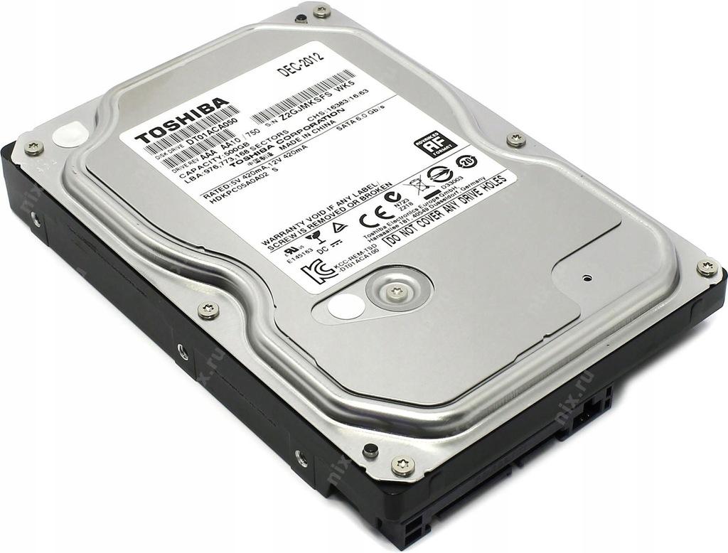 500GB SATA III HDD TOSHIBA DT01ACA050 32MB 7200