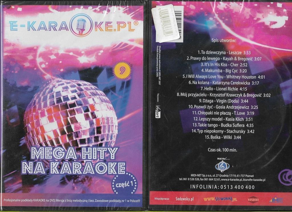 Mega hity na karaoke cz.2 DVD NOWY folia