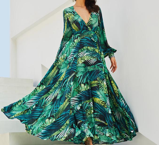 sukienka tropikalna zara