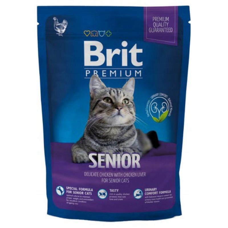 BRIT PREMIUM Cat Senior Chicken 800g KURCZAK