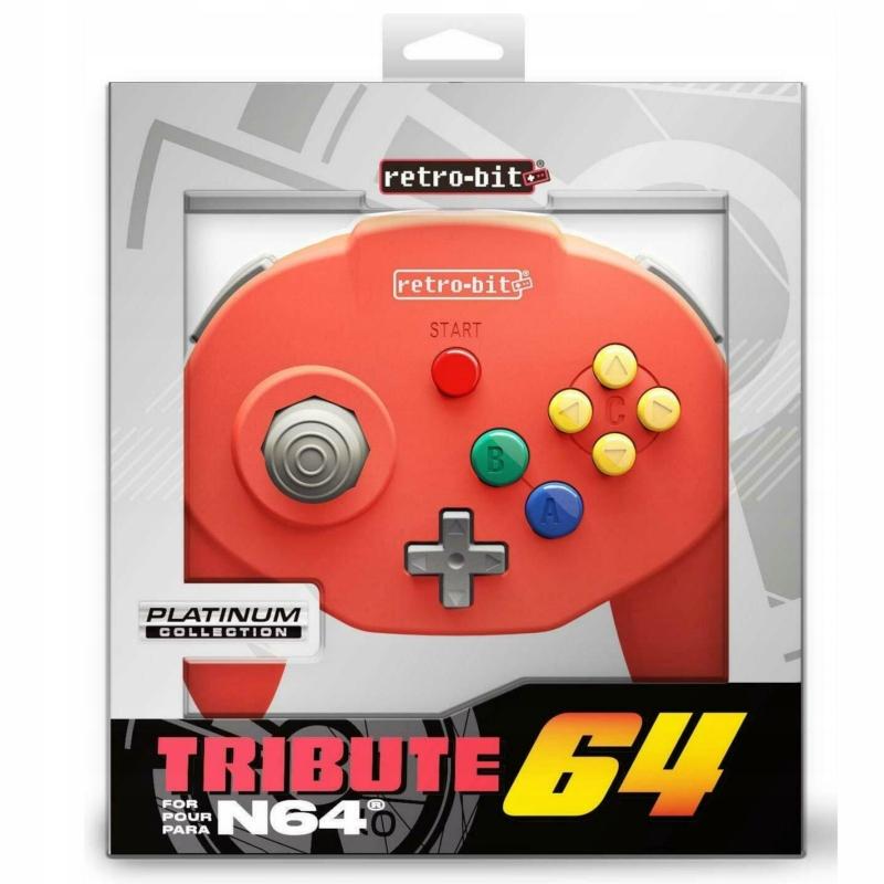 Nintendo 64 Kontroler Pad Tribute 64 czerwony
