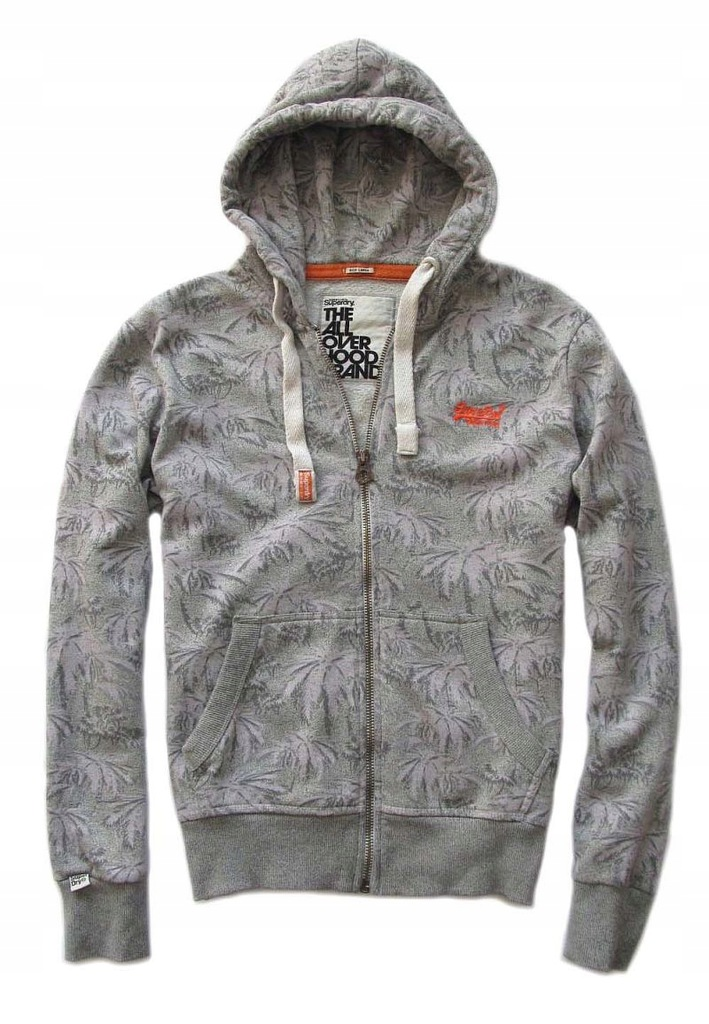 SUPERDRY ALL OVER HOOD BRAND * BLUZA Z KAPTUREM L