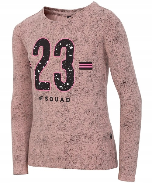 Bluza cienka dziewczęca LONGSLEEVE koszulka 4F