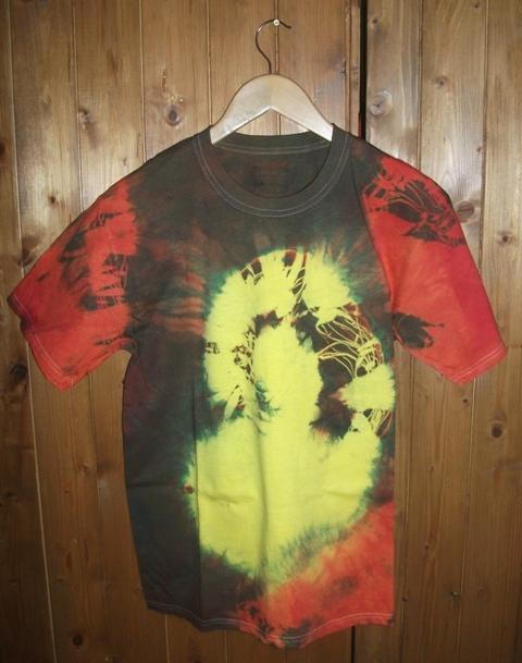t-shirt, koszulka rasta, ręcznie barwiona roz L