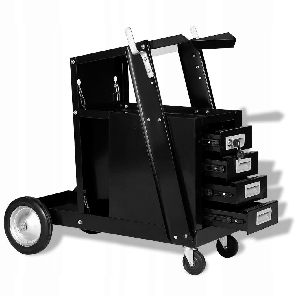 Wózek spawalniczy do spawarek MIG z szufladami