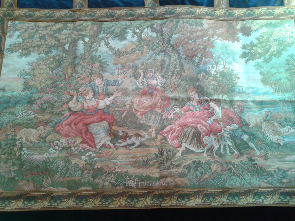STARY GOBELIN MAKATA KILIM ARRAS tapiseria Piękna