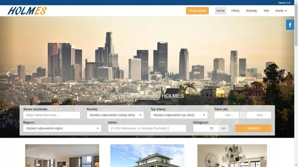 Skrypt www bazy nieruchomości real estate Holmes