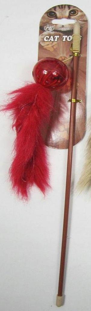 YARRO Zabawka dla kota - wędka z plastikową piłecz