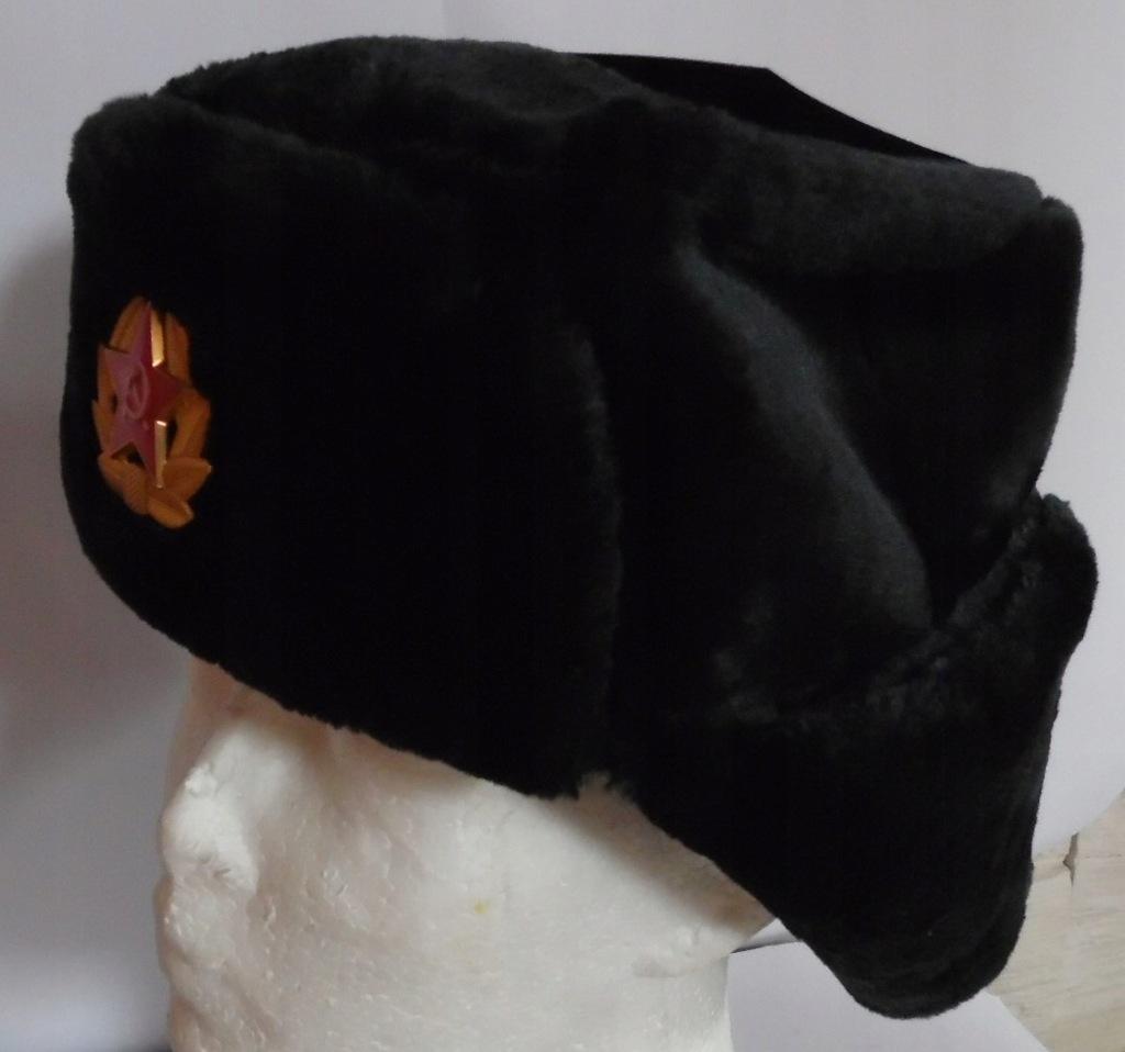 Rosyjska czapka uszanka - uszatka czarna roz. 59