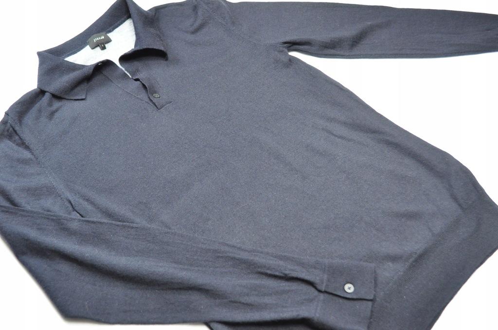 ATT sweter polo Jigsaw czarny wełna L