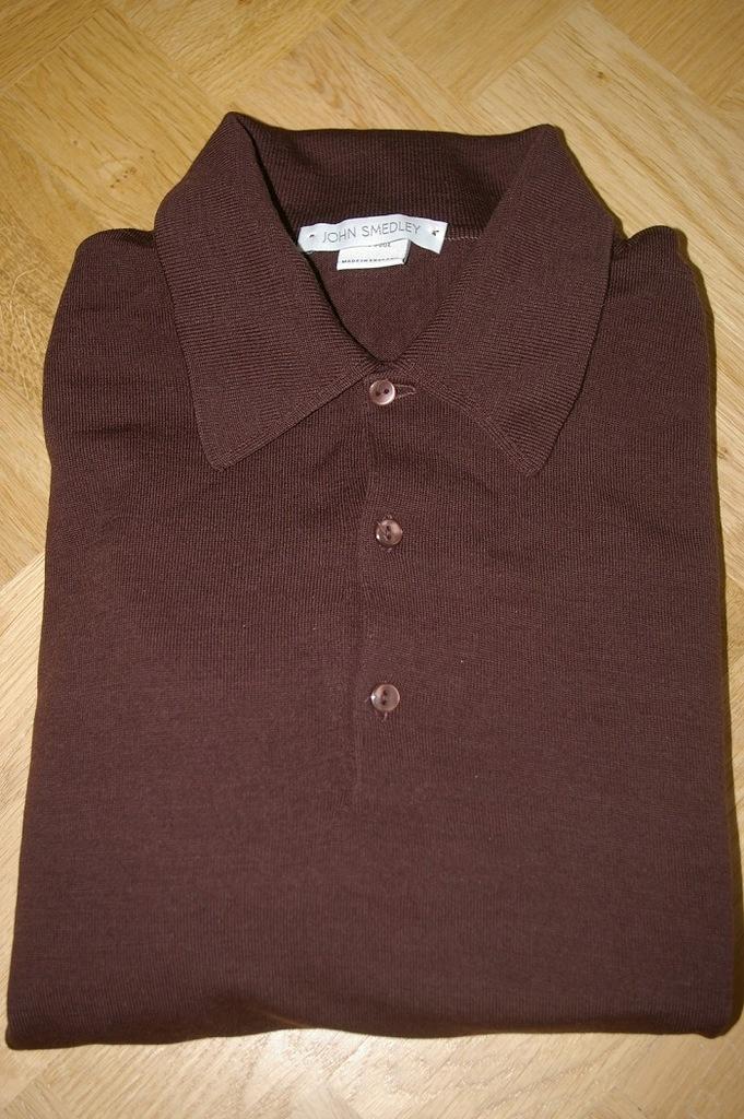 John Smedley sweter polo kołnierzyk
