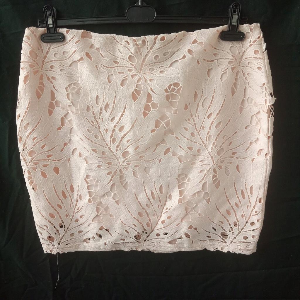 primark ołówkowa spódnica pudrowy róż r.46