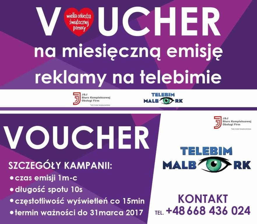 Voucher reklamowy - telebim Malbork