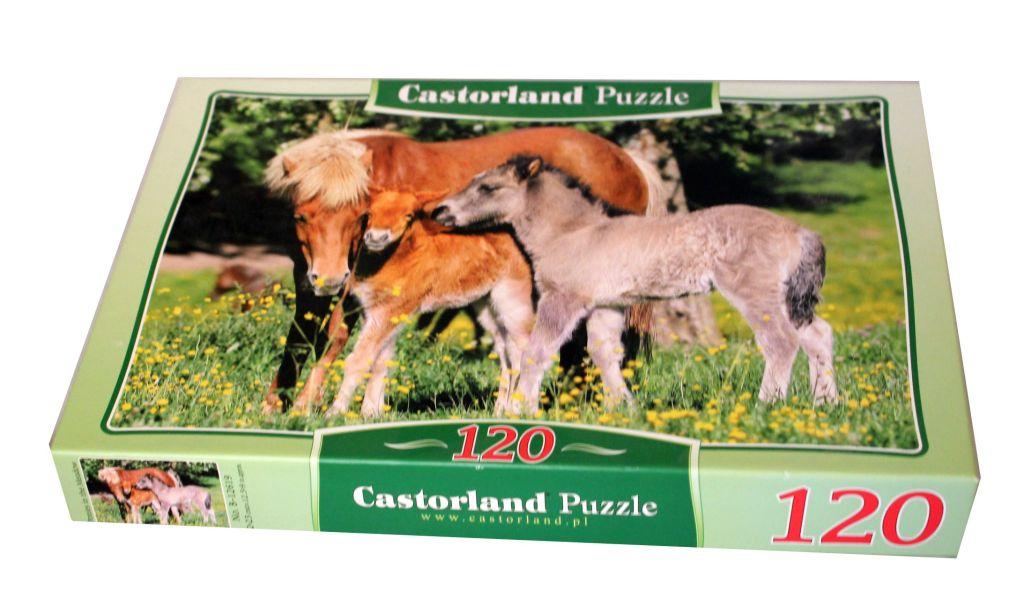 Puzzle 120 elementów konie