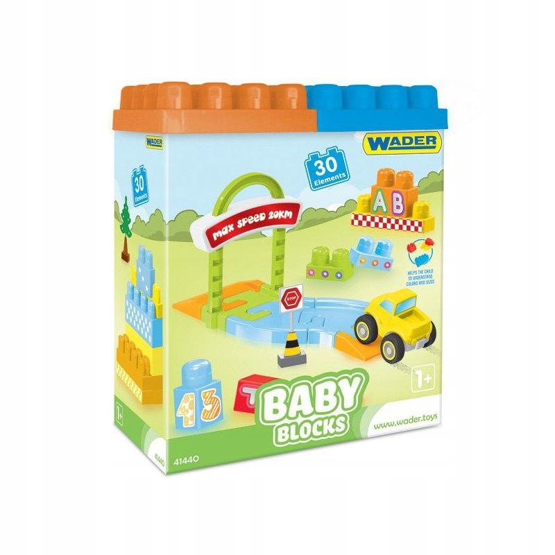Wader Klocki Baby Blocks - 30 elementów
