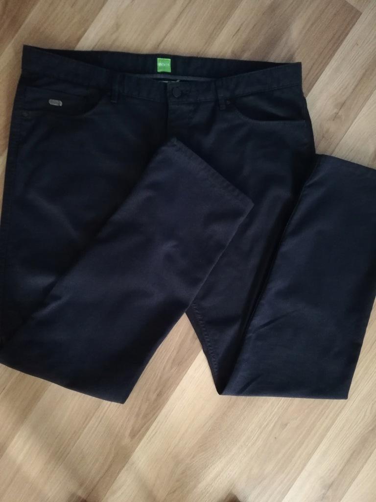 Hugo Boss Spodnie Eleganckie CiemnyGranat Slim Fit