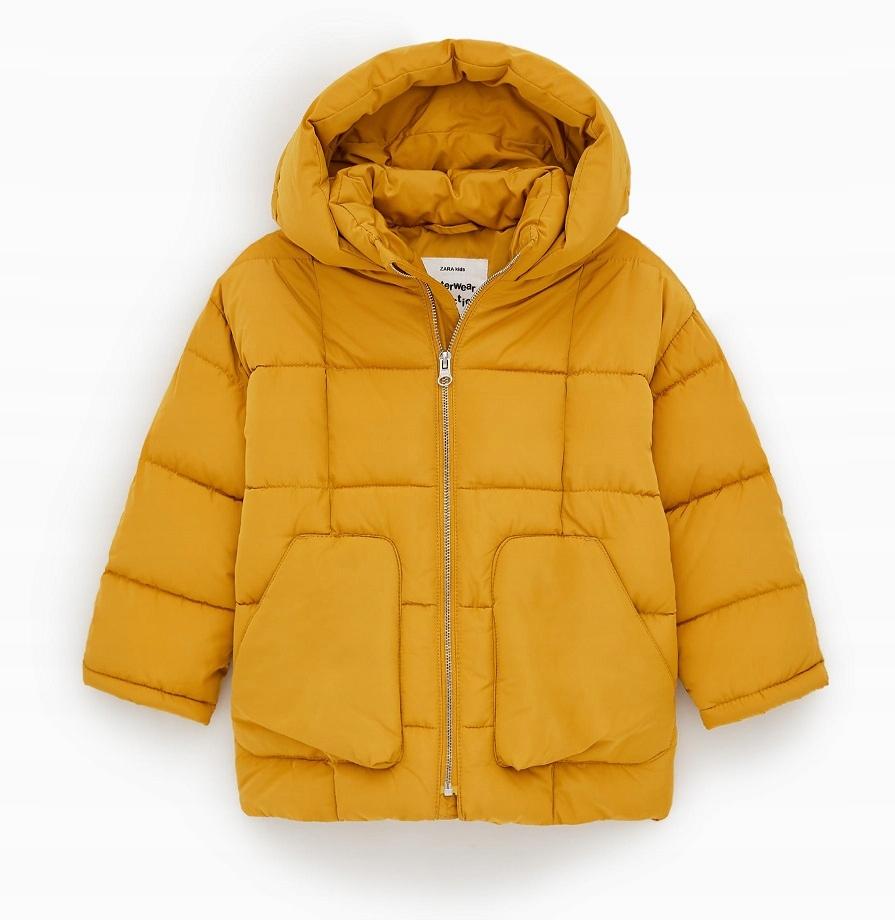 ZARA zimowa kurtka dziewczęca 134, 9l