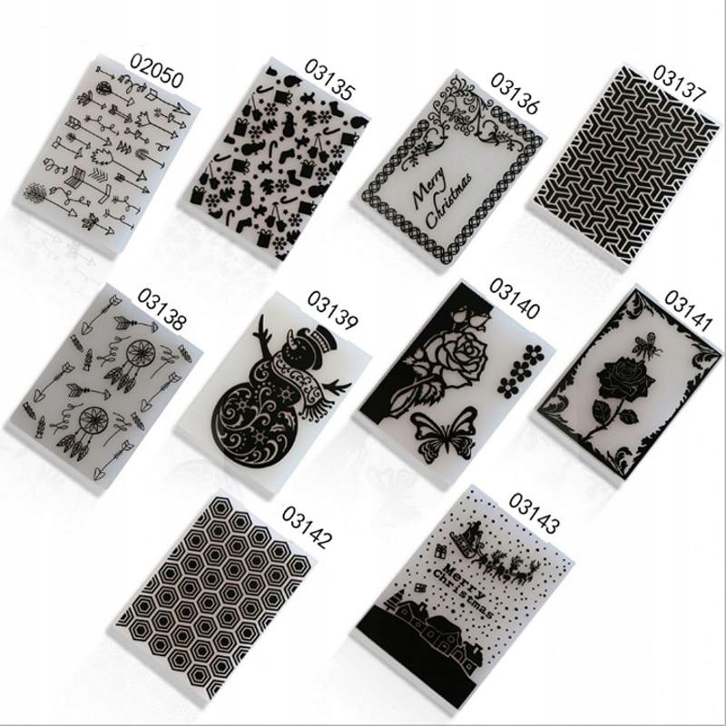[5] Plastikowe wytłaczanie szablony folderów
