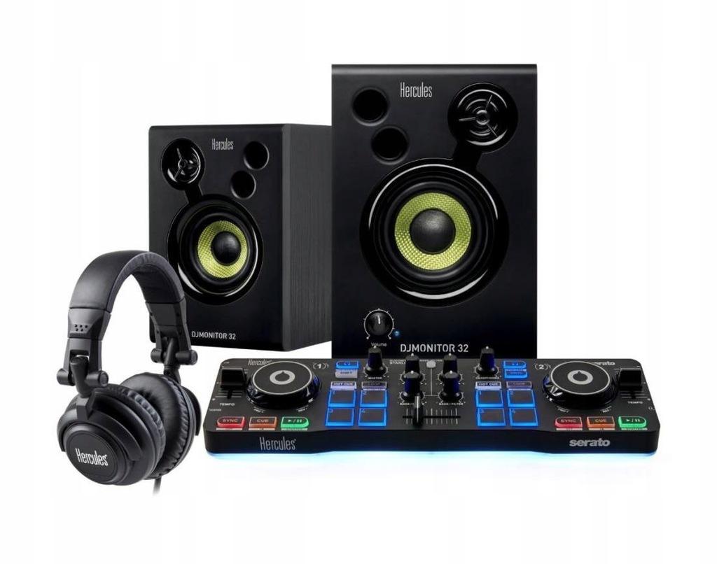 Konsola DJ Starter Kit + Głośniki DJ Monitor 32 +