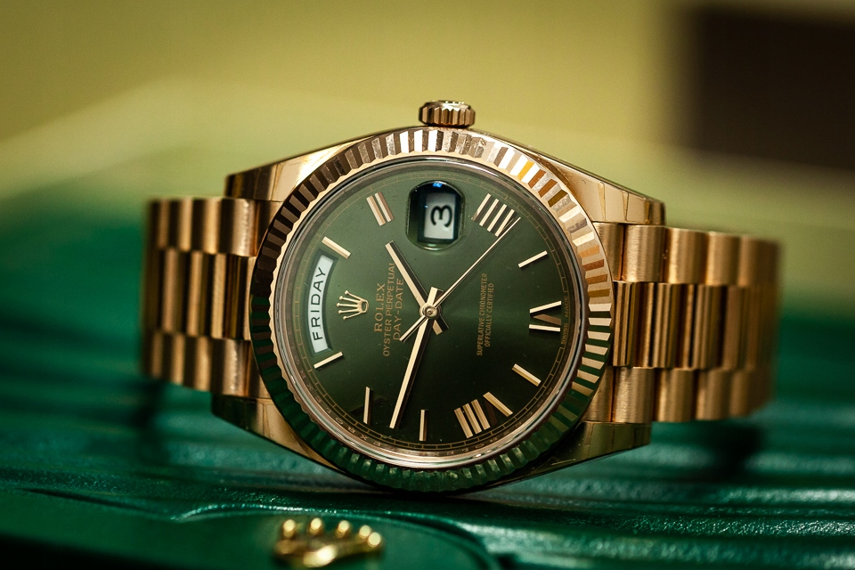 ROLEX OYSTER PERPETUAL DAY-DATE PRESIDENT GOLD/KPL