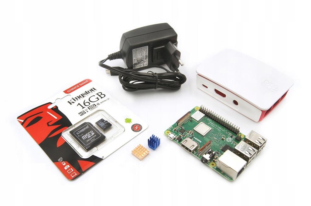 Zestaw Raspberry Pi3 B+ Oryg Zasilacz 16GB obudowa