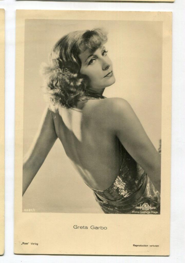 Greta Garbo Kino Film Aktorka Foto Pocztówka 3