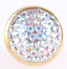 Guziki metalowe kryształ 12 mm 2 szt