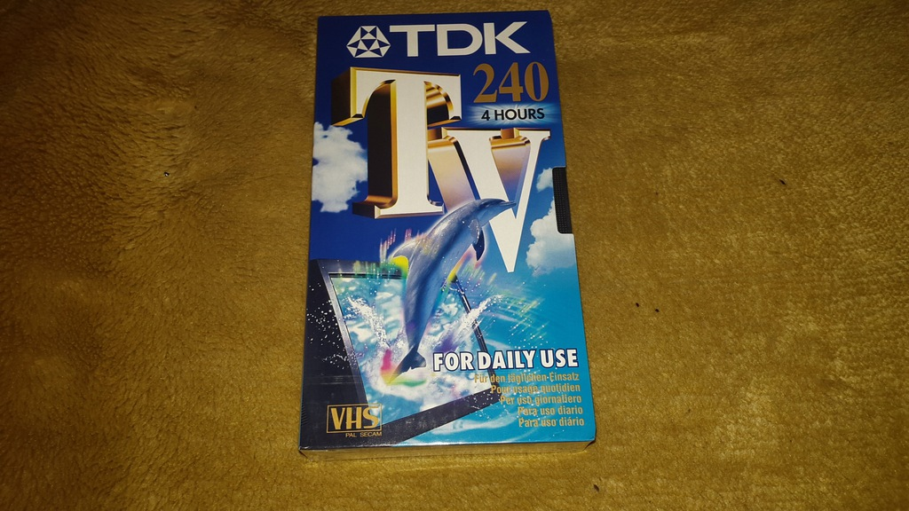 NOWA CZYSTA ZAFOLIOWANA KASETA VHS - TDK 240 min