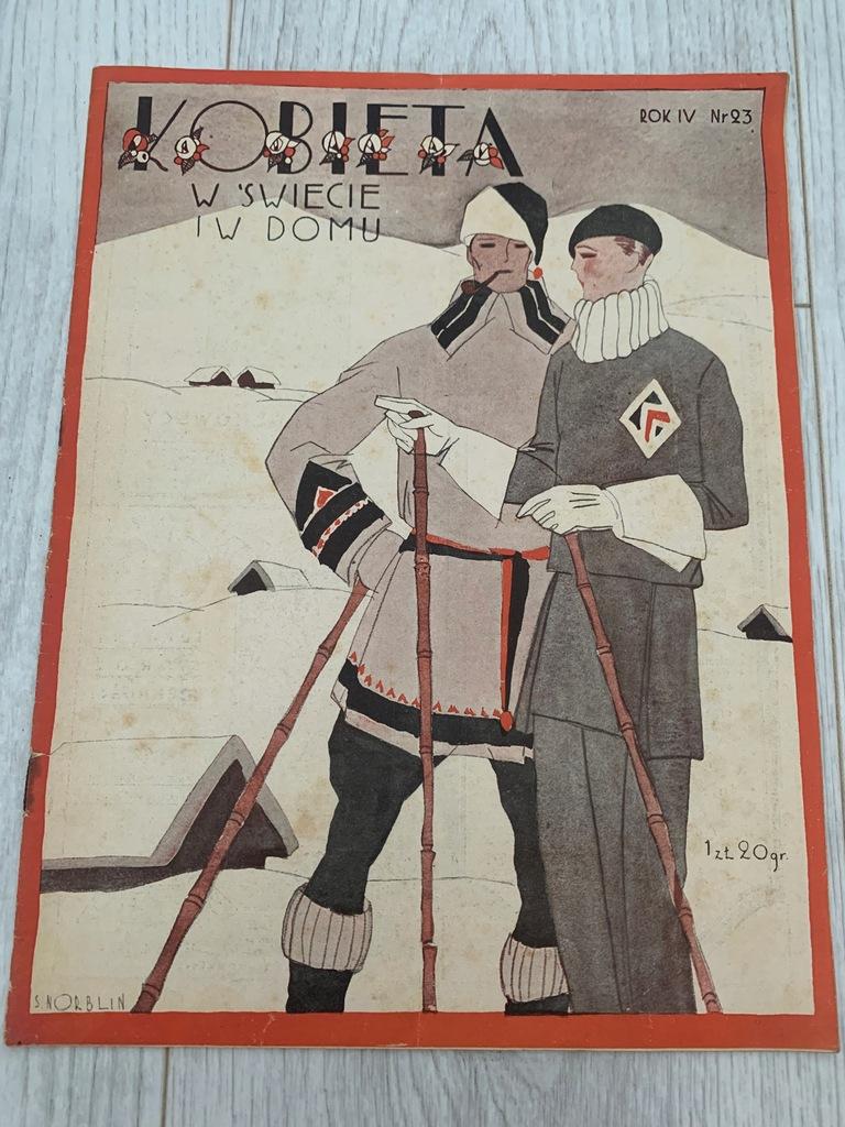 KOBIETA W ŚWIECIE I W DOMU GRUDZIEŃ 1928 NORBLIN