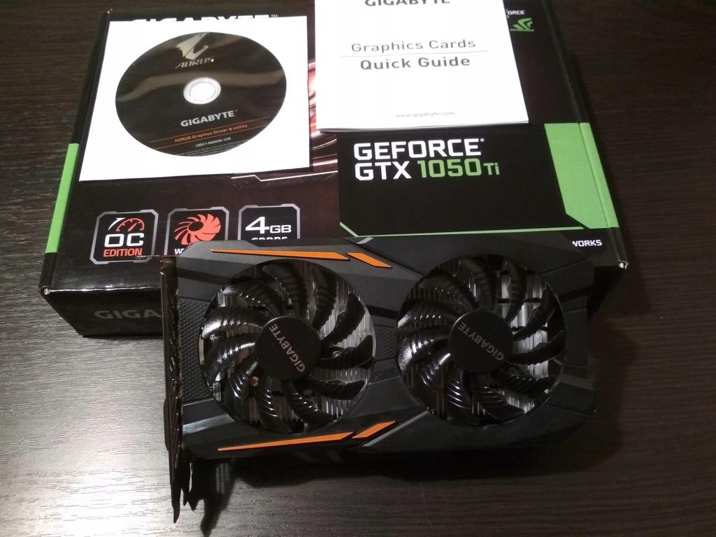 Gigabyte GeForce GTX 1050 TI OC 4 GB GDDR5