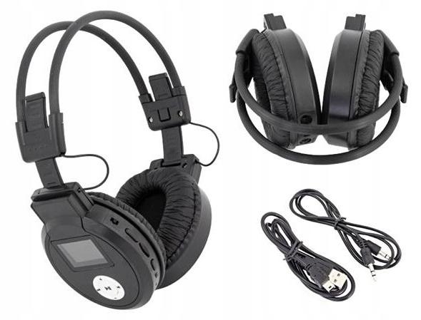 Słuchawki bezprzewodowe MICRO-SD+RADIO