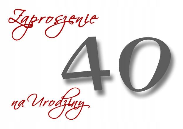 Zaproszenia 18 40 80 Urodziny Jubileusz Gratis