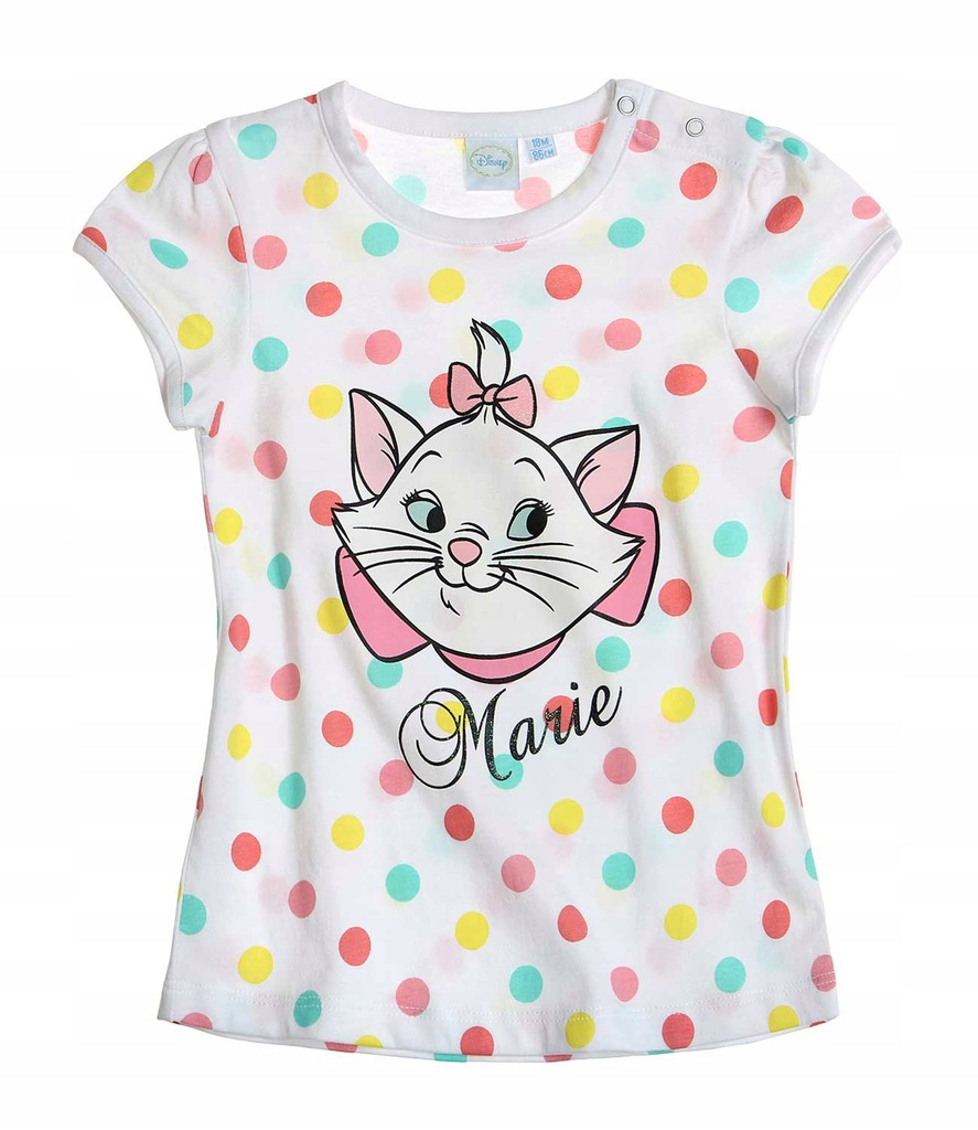 Marie Arystokraci 68 koszulka t-shirt grochy kotka