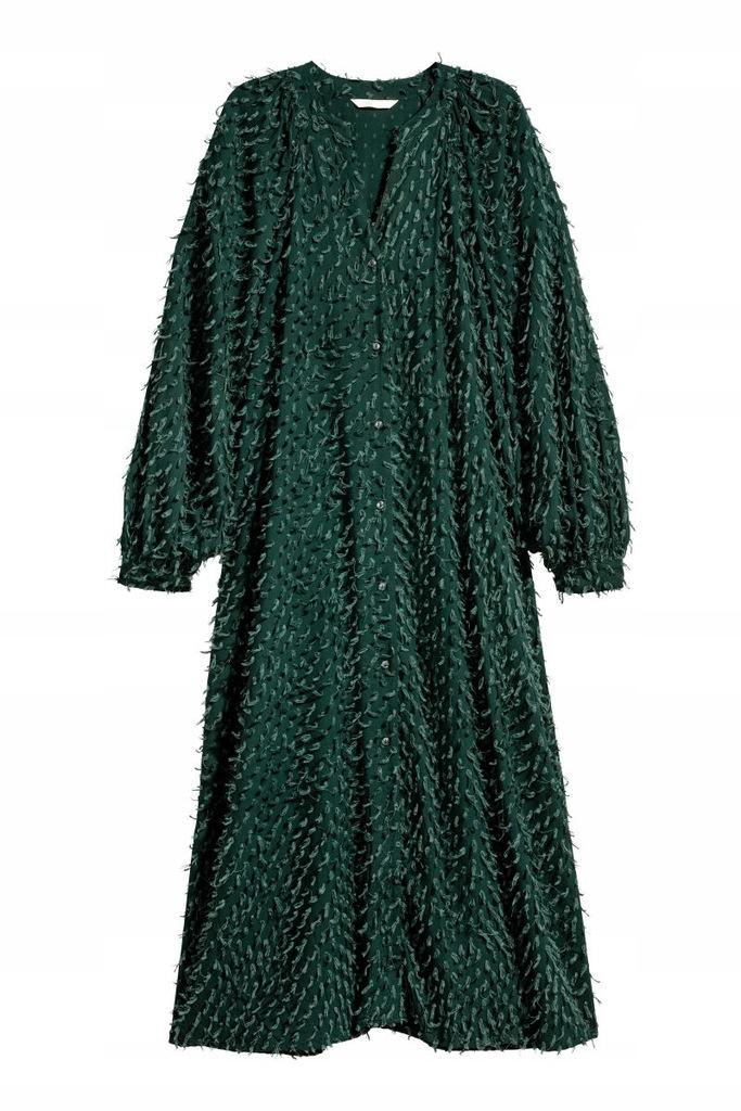 H&M sukienka trend 40 L do łydki C171