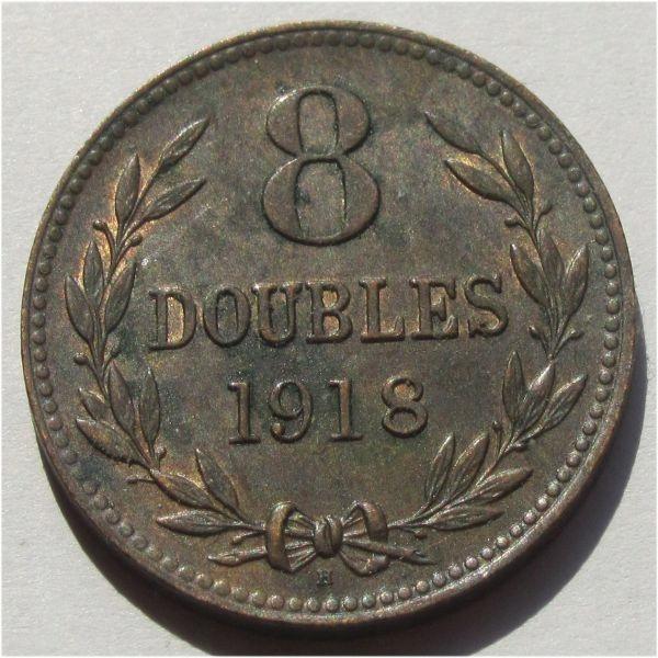 Guernsey 8 doubles 1918 Ładna