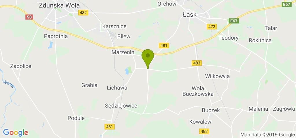 Działka Sędziejowice, łaski, 11400,00 m²