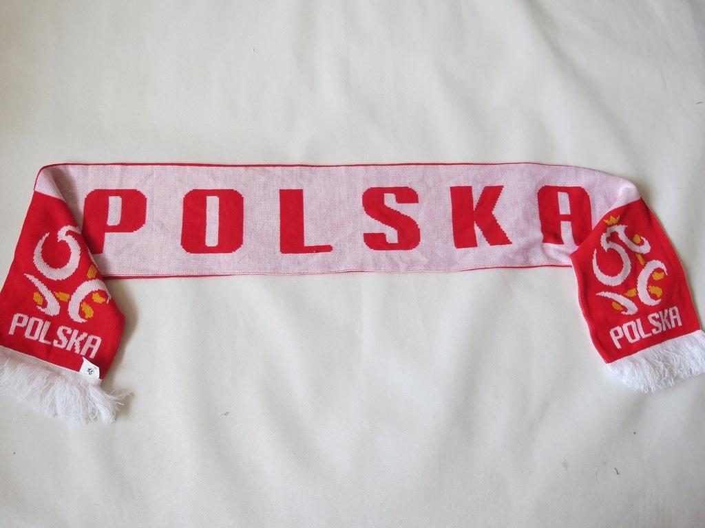 Dustronny szalik kibica / licencja PZPN/.