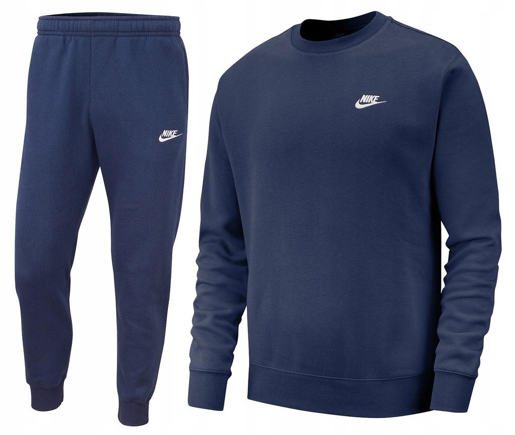 Komplet spodnie bluza Nike dres sportowy męski r.M