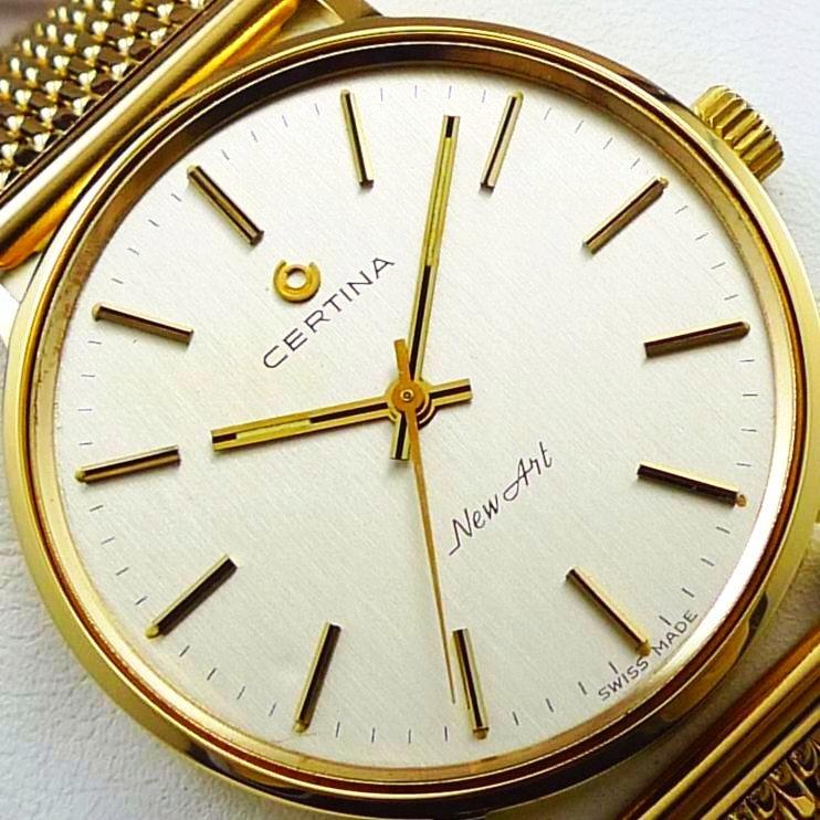 CERTINA NEW ART zegarek męski LITE ZŁOTO 18K 750