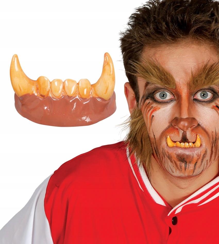 Zęby wilkołaka akcesoria na Halloween party