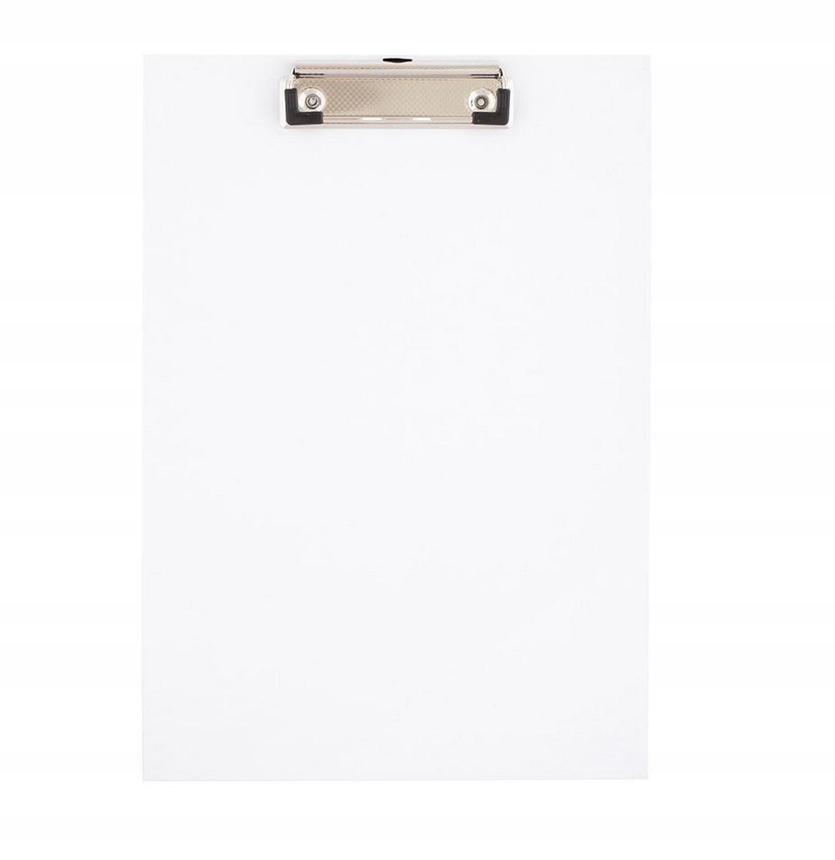 Deska A4 PVC z klipem biała D.RECT