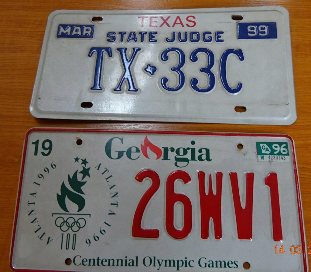 Oryginalne Tablice Rejestracyjne Usa Texas Georgia 7928784572 Oficjalne Archiwum Allegro