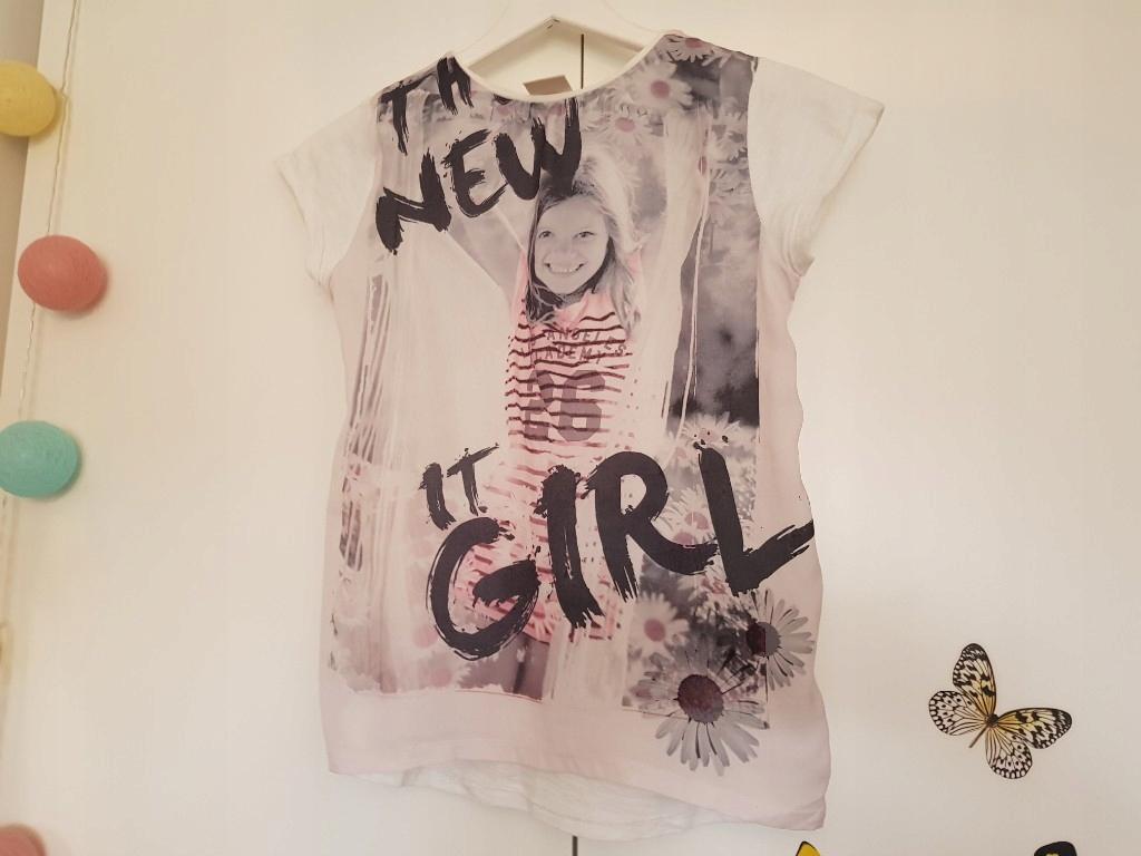 ZARA Girls Śliczna tunika bluzka New Girl 140