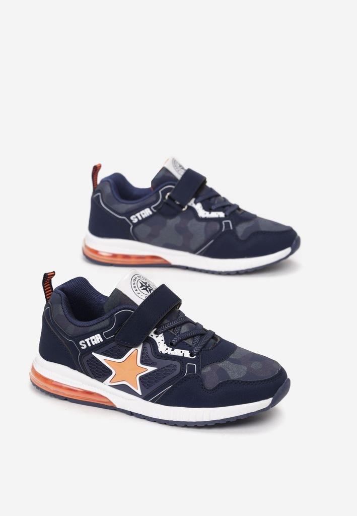Niebiesko-Pomarańczowe Buty Sportowe 34