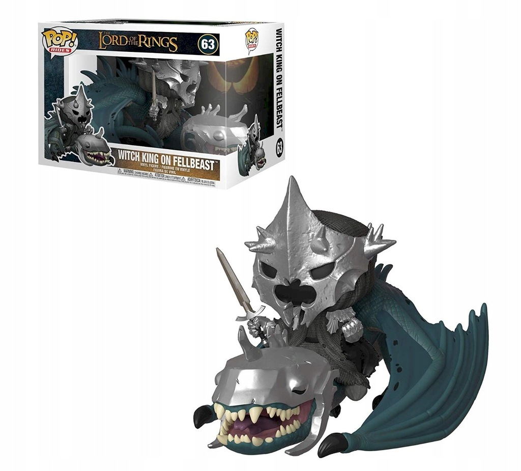Lord Of The Rings Funko POP Witch King Fellbeast 6