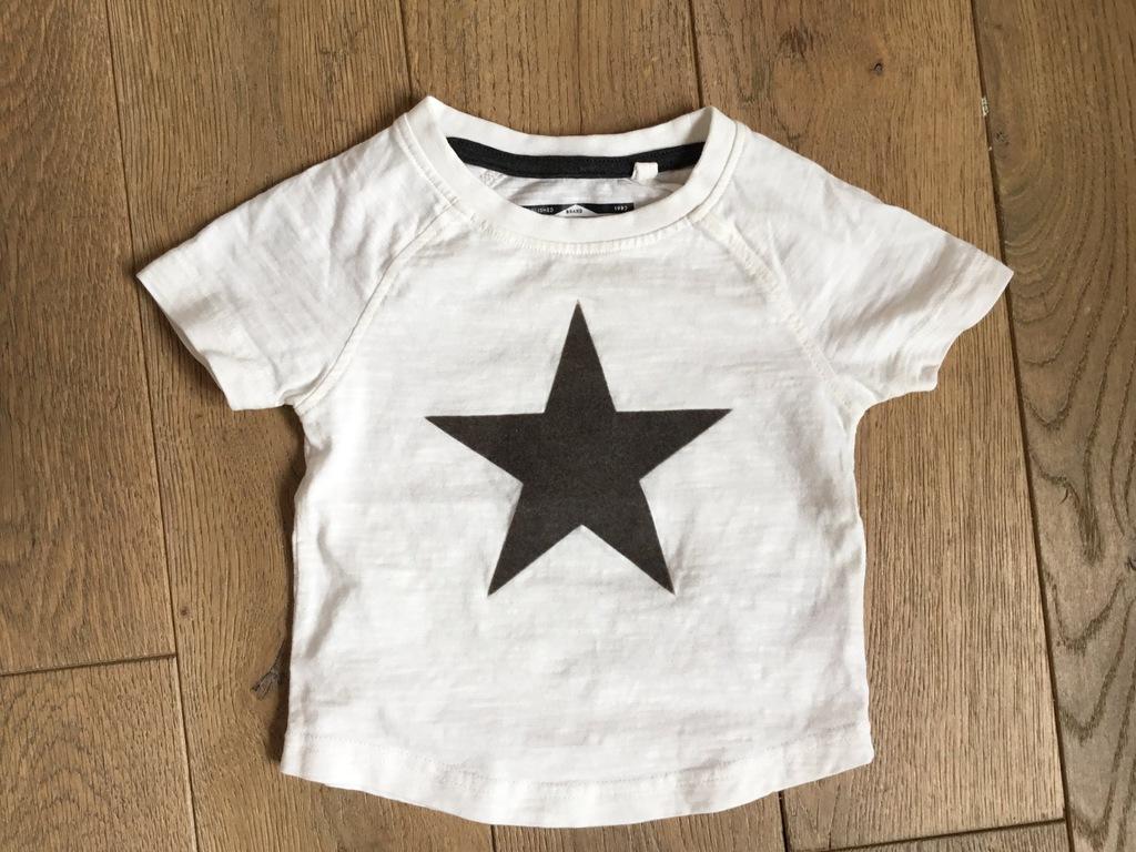 Biały T-shirt 3-6 mc dla maluszka / stan bdb next