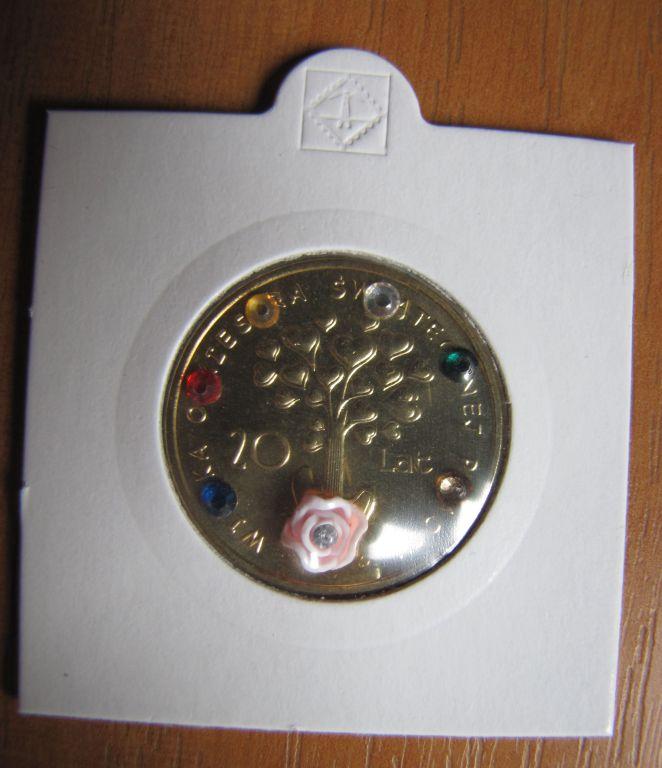moneta 20 XX lat wośp,stan menniczy,nowa,svarowski